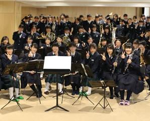 入間市立野田中学校吹奏楽部との合同練習